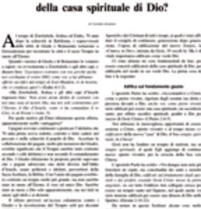 Come edificare la casa spirituale di Dio?