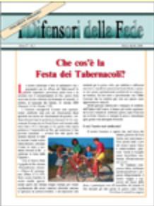 Che cos'è la Festa dei Tabernacoli?